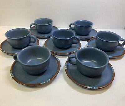 Dansk MESA SKY BLUE Coffee Tea / Cup Mug With 6