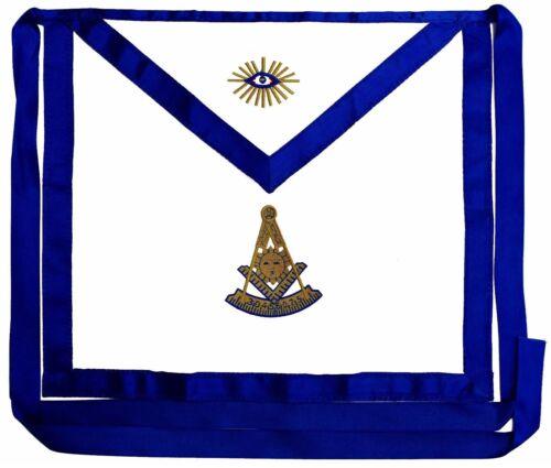 Masonic Past Master Apron EMBROIDERED  Blue Lodge Fraternity DMA-1100GB
