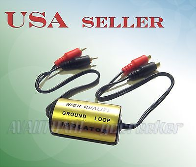20 AMP Ground Loop Isolator Noise Suppressor RCA F to RCA M NOISE FILTER 104