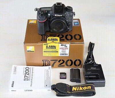Nikon D7200 Fotocamera Digitale SRL 24,2mpx 11.263 scatti (solo corpo), perfetta
