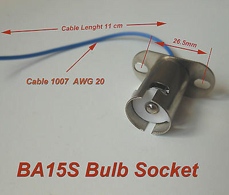 5pcs BA15s Bayonet Light Bulb Socket 1073 1093 7506 1156
