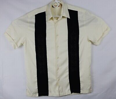 The Havanera Co. Camp Cigar Shirt Embroidered Medium Bowling Rockabilly