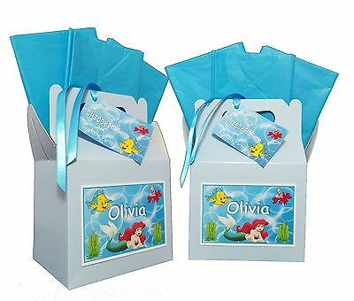 Personalised Disney Themed The Little Mermaid Birthday Party Lunch Gift Box/Bag - The Little Mermaid Party Theme