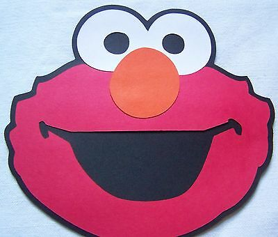 Elmo party decorations 6 in. face Sesame Street Set of 4 ](Elmo Party Decor)