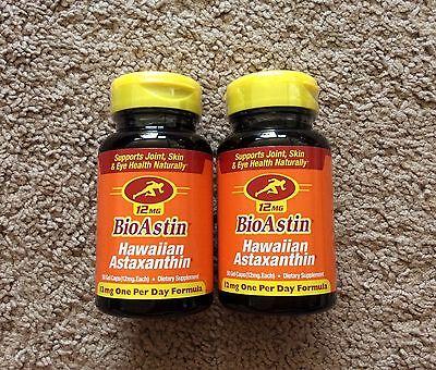 100 Mg 50 Gels - * FRESH FROM HAWAII * 100 Gel Caps BIOASTIN 12 mg Hawaiian Astaxanthin 2 x 50