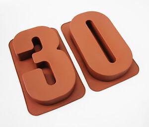 large 12 silicone number moulds 30 cake tins baking pan. Black Bedroom Furniture Sets. Home Design Ideas