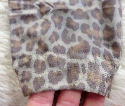 Girls Teens Grey brown Leopard print footless tights Animal Wild Cat 9 - 15 - Wild Cat Girl Kostüm