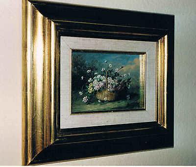 """""""Stilleben mit Rosen"""", von Thérèse Baudry de Balzac, Öl auf Holz"""