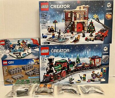 Lego Winter Holiday Train 10254 + Power Functions & Village Fire Station 10263