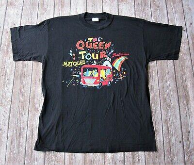 Queen - Vintage The Queen Tour Rainbow Marquee Magic Concert T-Shirt XL
