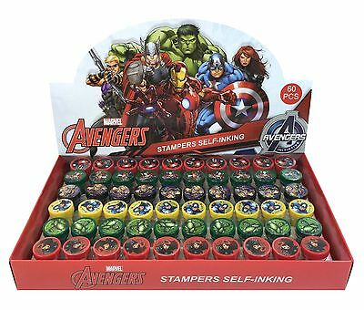 Avengers Birthday Party Favors (NEW Marvel Avengers Self Ink Stamps Birthday Party Favors Bag Filler)