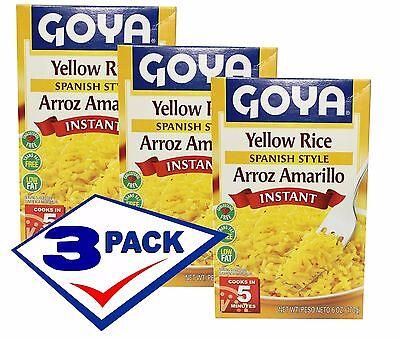 Goya Rice (Goya Instant Yellow Rice, Spanish Style. 6 Oz Pack of)