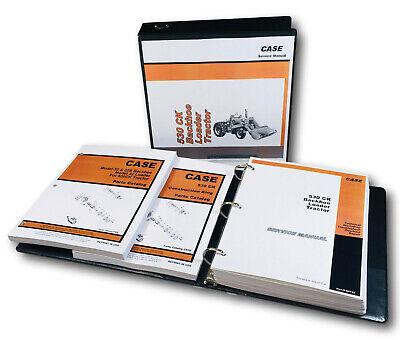 Case 530ck Backhoe Loader Tractor Service Manual Parts Catalog Shop Book Set
