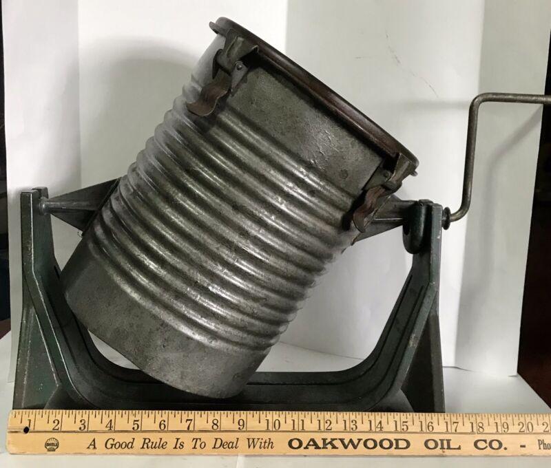 Rare Hand Turn Antique Hardware General Store Paint Mixer Shaker
