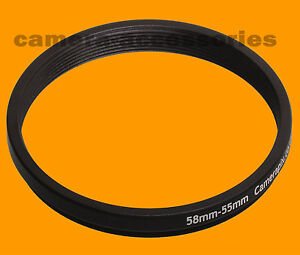 58mm-to-55mm-58-55-Stepping-Step-Down-Filter-Ring-Adapter-58-55mm-58mm-55mm