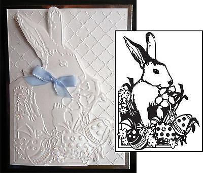 Easter Bunny embossing folders Darice embossing Folder 1218-43 animals rabbit