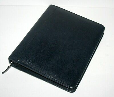 Franklin Covey Black Grain Pebbled Verona Leather Cl12215 Planner Binder Quest