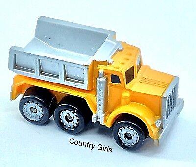 Micro Machines Dump Truck Diesel Kenworth Orange Gray Big Rig Auto Work Vehicle