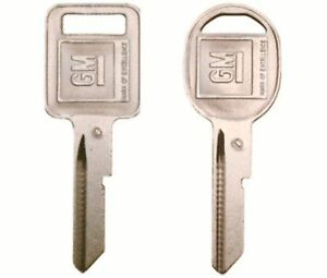 2-1972-Chevrolet-Camaro-GM-OEM-C-and-D-Key-Blanks-Original
