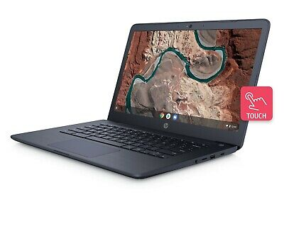 "HP 14"" HD Touchscreen Dual-Core 2.5GHz 32GB SSD 4GB RAM Chromebook Webcam BLUE segunda mano  Embacar hacia Argentina"