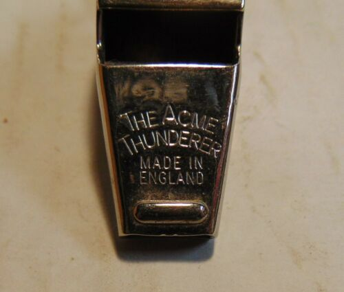 VINTAGE WHISTLE, THE ACME THUNDERER, MADE IN ENGLAND,