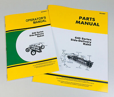 Operators Parts Manual Set For John Deere 640 Side Delivery Rake