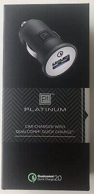 BEST BUY Platinum Quick fast Charge Car Charger Black Qualcomm QC 2.0