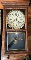 Waterbury Calendar Store Regulator Clock