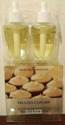 FROSTED CUPCAKE~BATH & BODY WORKS WALLFLOWER REFILL BULBS Lot of 4(Unboxed) -NEW