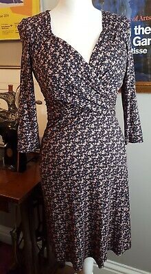 Pepperberry Wrap Front Jersey Dress - 8R/SC (Bravissimo) Front Jersey Dress