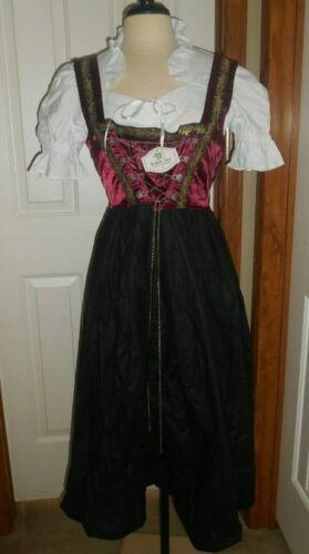Edelnice Bavarian Midi Dirndl 3 pc NWT Dress & Apron Mid evil Renaissance 44 MED