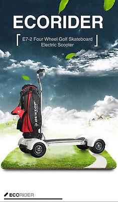 OnePerson Golf Cart Ecorider Electric Long Battery Range 4 Wheel Golf Skateboar