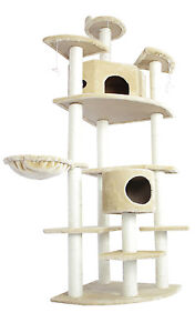 New-80-034-Beige-Cat-Tree-Condo-Furniture-Scratch-Post-Pet-House-38B