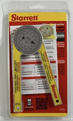 Starrett 505p-7 7 Miter Saw Protractor Pro Site Series Brand New