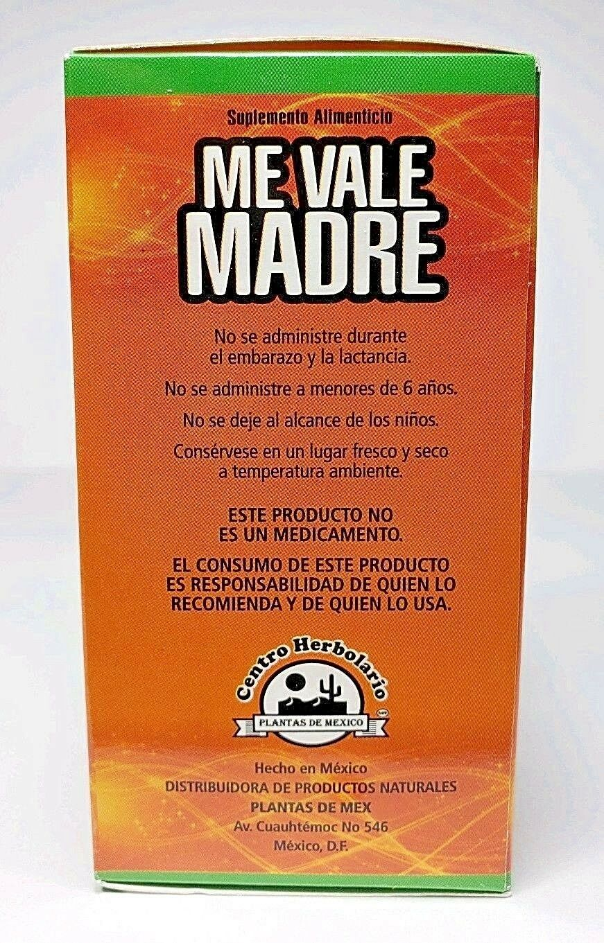 ME VALE MADRE 60 Tablets 500 mg each Support Estres Depresion Ansiedad 6