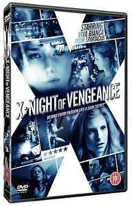 X: Night Of Vengeance DVD Erotic Violent Thriller, Viva Bianca, NEW SEALED