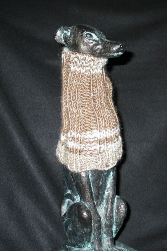 Var. Grey/Brown Italian Greyhound Dog Snood 2 wear w/ dog coat 100% Donation