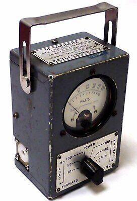 Bayly 1w3-2c Rf Wattmeter 10-50-100w 50 Ohms 50-400mhz Tested Working