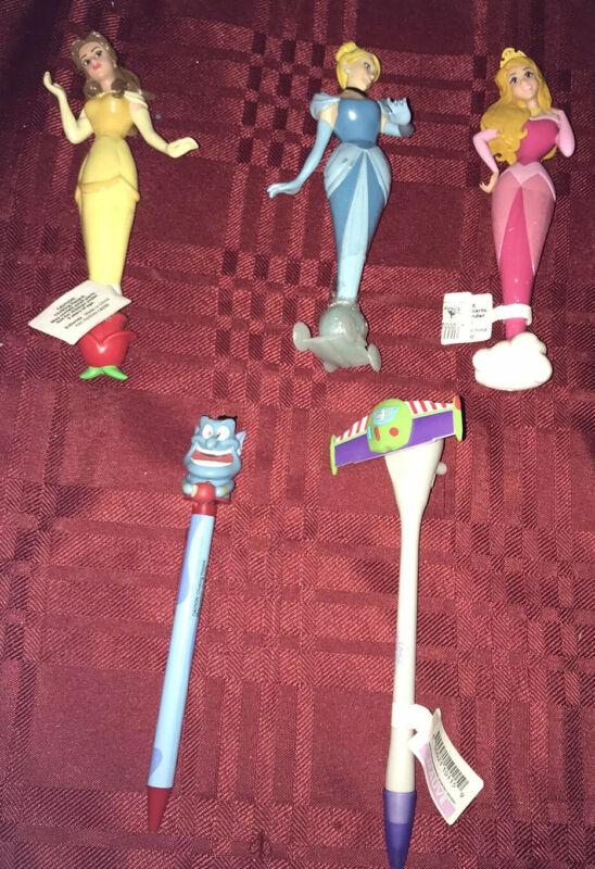 Disney Parks Figurine Pen CINDERELLA BELLE AURORA GENIE BUZZ JETPACK U PICK New