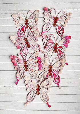 10 Stück 3D Schmetterlinge Scrapbooking Hobby Basteln Butterfly Strasssteine