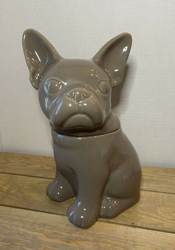 French Bulldog Threshold Stoneware Grey Cookie Treat Jar Dog Puppy Target