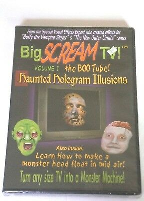 BIG SCREAM TV Volume 1 Halloween Haunted Hologram Illusions Brand NEW Sealed DVD](Halloween Holograms)