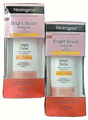 2x Neutrogena Bright Boost Moisturizer with Broad Spectrum SPF 30 Sunscreen
