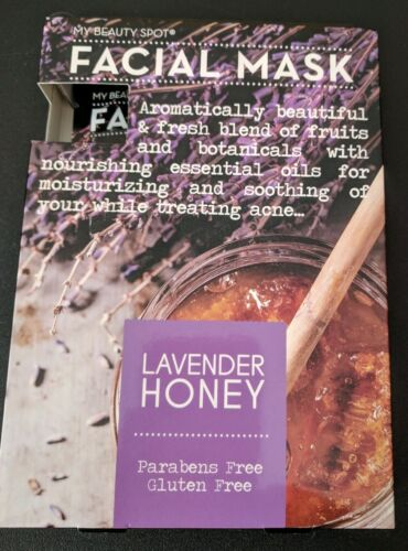 My Beauty Spot 5 Pack Face Masks. Lavender Honey. Parabens F