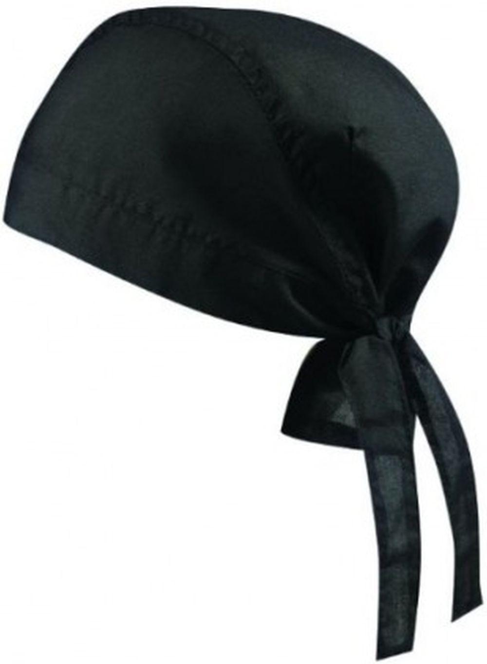Bandana Hut Mütze Hat Kochbekleidung Kopftuch Farbe schwarz