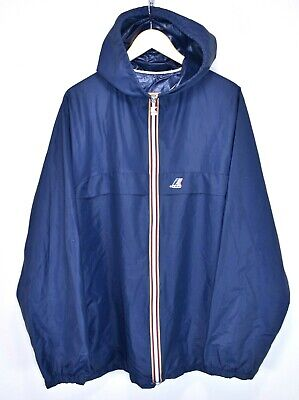 MENS K-WAY VINTAGE WATERPROOF RAINCOAT CAGOULE RAIN JACKET SAILING size 7 LARGE