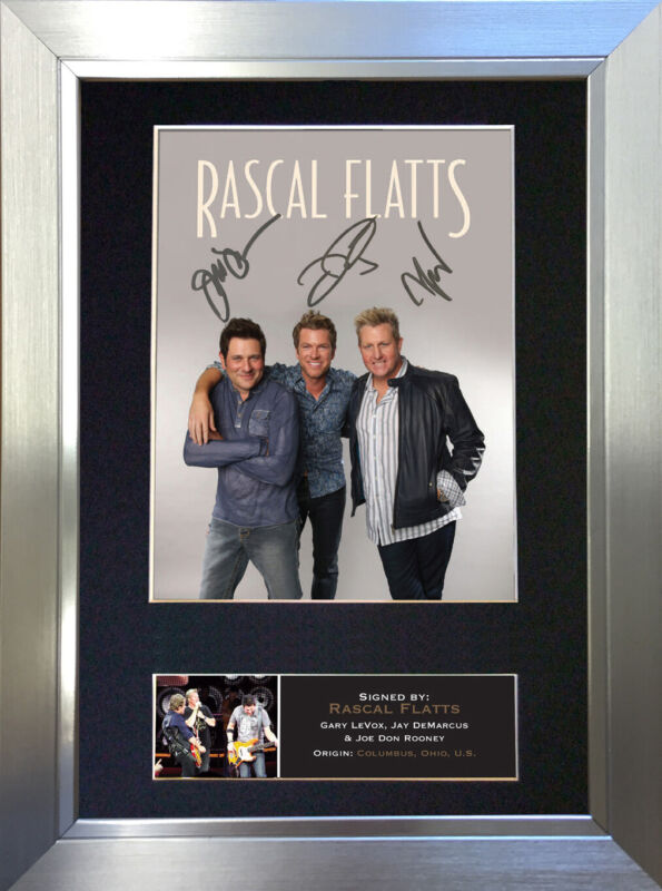 RASCAL FLATTS Signed Autograph Mounted Photo Reproduction A4 Print 367