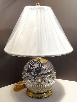 NEW WATERFORD CRYSTAL BOOK OF KELLS ELECTRIC TABLE LAMP ~ CRYSTAL LIGHTS UP - Light Up Glassware