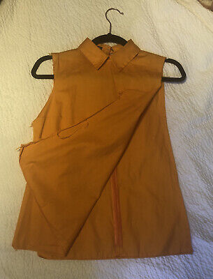 J w Anderson Orange Tunic Shirt With Distressed Details s/m