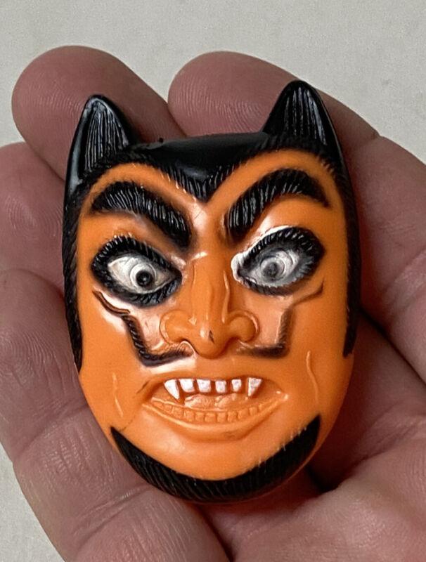 Vintage Halloween Fun World Devil Face Toy Clicker Hard Plastic